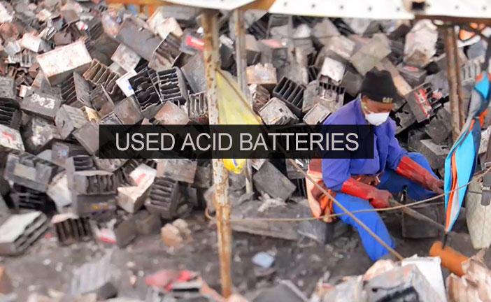 Used Acid Batteries