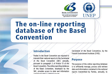 Electronic reporting system of the Basel Convention