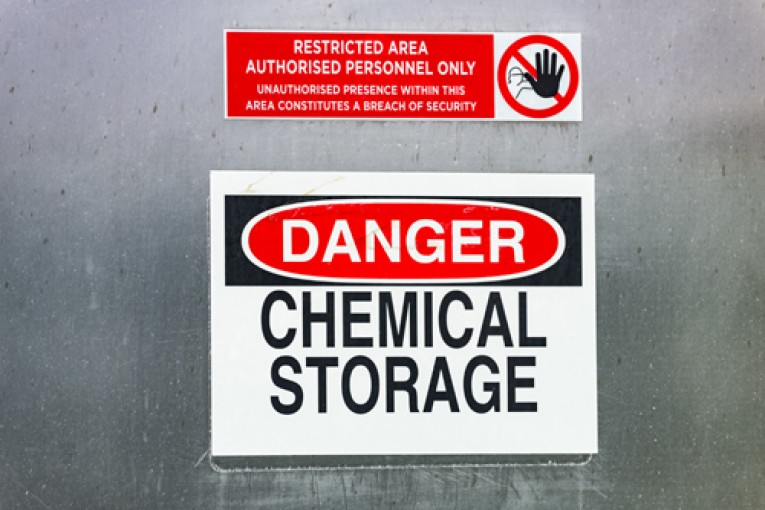 workplace hazards sign